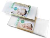 Harlow's Earth Safe Sleep Bundle- One Crib Mattress Cover and One Porta Crib Mattress Cover- Waterproof- Toxic Gas Shield