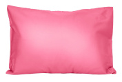 2 Hot Pink Toddler Pillowcases - Envelope Style - 13x18 - 100% Cotton With Soft Sateen Weave - Machine Washable - ZadisonJaxx Bellacolour Collection - 2 Pack