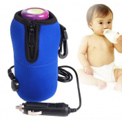 NAMEO Portable 12V Car Bottle Warmer Drink Coffee Food Milk Heater for Baby Kids Mini Linear Temperature Programmer Bag