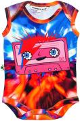 """Inchworm Alley - """"Bowie Cassette"""" Unisex Baby Onesie Bodysuit, Organic Cotton"""