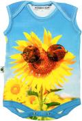 """Inchworm Alley - """"Sunflower Sunnies"""" Unisex Baby Onesie Bodysuit, Organic Cotton"""