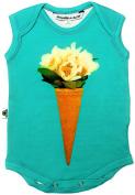 """Inchworm Alley - """"Ice Cream Bouquet"""" Unisex Baby Onesie Bodysuit, Organic Cotton"""
