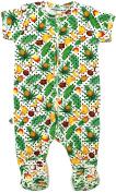"Inchworm Alley - ""Tropicana"" Unisex Baby Onesie Footie Sleeper, Organic Cotton"
