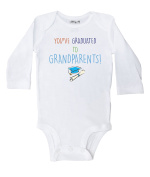 Baffle / You've Graduated to Grandparents White Long Sleeve Baby Onesie