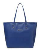 BayB Brand Colorland Leather Nappy Tote Bag - Blue