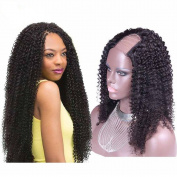 Amethyst Afro Kinky Curly Human Hair U Part Wigs 130 Density Grade 8A Brazilian Virgin U Shaped Human Hair Wigs For Black Women
