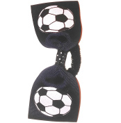 Soccer Hair Bow without tails, many colours avail, Made in the USA, black band