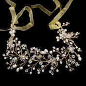 Lace Crystals Rhinestone Girl Soft Headband Hair Chains Bridal Wedding Hair Jewellery Accessories HB1013
