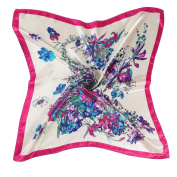 Datework Women Floral Printed Square Scarf Head Wrap