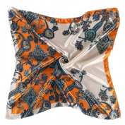 Datework Women Printed Square Head Wrap Neck Satin Shawl