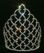 25cm Traditional Rhinestone Crown - Silver #11185S