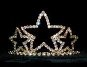 Triple Star Tiara #11387G - Gold Plated