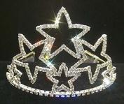 10cm Stacked Star Tiara #11472