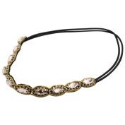Gilroy Women Girl Bohemian Style Rhinestone Faux Pearls Headdress Hair Band