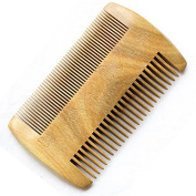 Healthcom Natrual Hair Combs Green sandalwood Handmade Comb Beard/Moustache Comb for Men