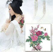 Sexy Body Art Flower Tattoos Women Party Temporary Tattoo Sticker