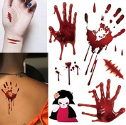 1 Sheet Temporary Waterproof Tattoo Decal Wound Sticker Fashion for Halloween