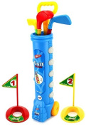 Velocity Toys Sport Children's Kid's Toy Golf Play Set w/ 4 Balls, 3 Clubs, 2 Practise Holes, 2 Flags (Colours May Vary) by Velocity Toys