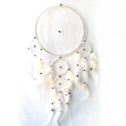 Large dreamcatcher,dream catcher,North American Indian hand made.Fairtade.white