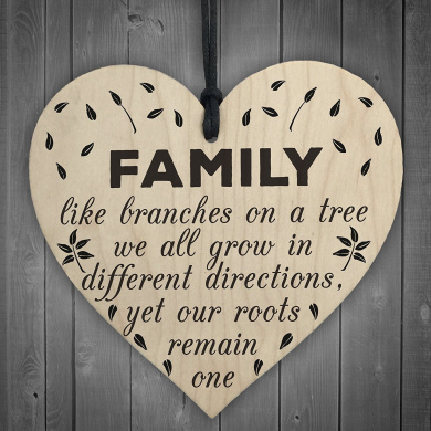 Family Roots Remain One Wooden Plaque