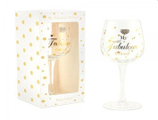 My Fabulous Friend Diamante Design Gift Boxed Wine Glass By Mad Dots