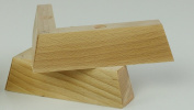 4 x WOODEN FEET REPLACEMENT FURNITURE LEGS 40mm HEIGHT FOR SOFAS, CHAIRS, CABINETS PRE FIX