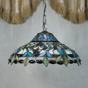 36cm Vintage Gorgeous Flower Stained Glass Tiffany Ceiling Lamp Pendant Lamp Living Room Light Hallway Lamp