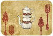 "Caroline's Treasures SB3088CMT ""Teapot Welcome"" Kitchen or Bath Mat, 20"" by 30"", Multicolor"