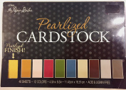 Pearlized Cardstock Paper Pack 11cm x 17cm , 48 Sheets in 12 Colours