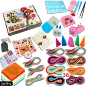 Yamu 36 Colours 1140 Strips Paper Quilling Board Mould Crimper Comb Tools DIY Craft Kit