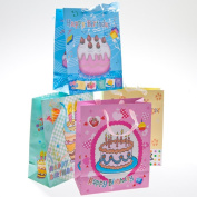 Happy Birthday Glitter Gift Bags - pkg12