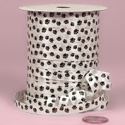 Krafty Klassics 1 Roll of Paw Print Poly Ribbon