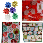 Gift Wrap Pack Bows Stickers Tissue Paper #2