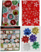 Gift Wrap Pack Bows Stickers Tissue Paper #1