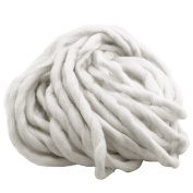 1 Skein Thick Bulky Chunky Soft Cotton Superfine Fibre Yarn Hand Knitting Crochet Weaving Rug Making Cotton Yarn Colour 1