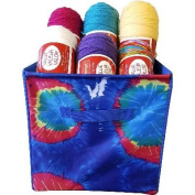"Yarn & Craft Storage Cube 30cm x 30cm X12""-Blue Tie Dyed"
