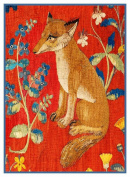 BOGO SALE-Mediaeval Sitting Fox Detail from Lady and the Unicorn Tapestries Counted Cross Stitch Pattern