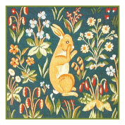 BOGO SALE-Mediaeval Sitting Rabbit Detail from Lady and the Unicorn Tapestries Counted Cross Stitch Pattern