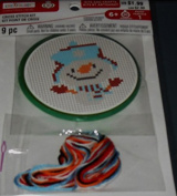 Creatology Christmas Cross Stitch Kit - Makes 1 Snowman in Blue Cap with Red Mittens