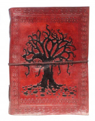 Pinnacle Handmade Tree of Life Embossed Vintage Leather Blank Book Travel Notebook Diary Journal