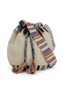 The House of Tara Handloom Fabric Crossbody Shoulder Bucket Bag HTB 09