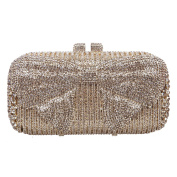 Fawziya Bow Crystal Clutch Purses For Women Evening Bags And Clutches