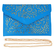 Women Vintage Style Hollow Hollow Out Shoulder Bags Ladies Fashion Chain Envelope Bag