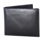 Jacaru Kangaroo Leather Flap Wallet - Black