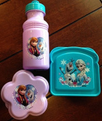 Disney's Frozen 3 Piece Lunch Set - Featuring Your Frozen Fan's Favourite Characters - Princess Elsa, Princess Anna & Olaf! by Zak Designs