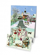 Mini Advent Calendar Christmas Card - Pop Up Christmas Panorama - Carol Singing Angels by Coppenrath Verlag