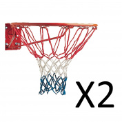 "Champion Red White Blue American USA Replacement Basketball Net 21"" 4mm"