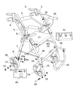 Replacement Parts for Models 795 - Drive Duet Rollator/Transport Chair
