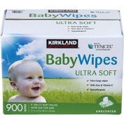 Kirkland Aloe and vitamin-e Signature Baby Wipes, Hypoallergenic ,Chorine free 6.3kg