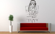 Wall Vinyl Sticker Decals Mural Room Design Pattern Music Melody Anime Girl Headphones bo296